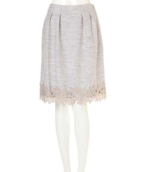 PROPORTION BODY DRESSING(プロポーション ボディドレッシング)/Fluffy embroideryスカート/1216220914_img01