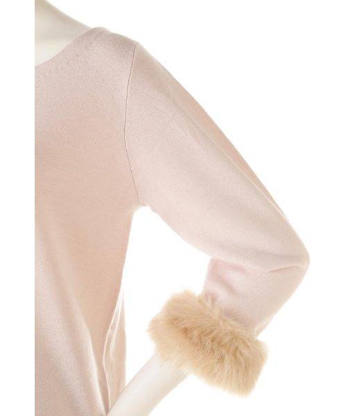PROPORTION BODY DRESSING(プロポーション ボディドレッシング)/ソリストヒートドッキング袖ファーニット/1216270900_img08
