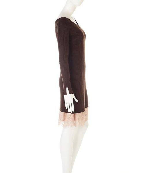 PROPORTION BODY DRESSING(プロポーション ボディドレッシング)/ロングリブレースワンピース/1217140004_img07
