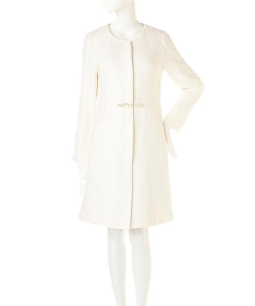 PROPORTION BODY DRESSING(プロポーション ボディドレッシング)/ノーカラーツィードコート/1217152102_img02