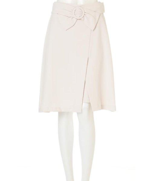 PROPORTION BODY DRESSING(プロポーション ボディドレッシング)/パウダリーダブルクロススカート/1217120103_img01