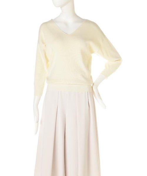 PROPORTION BODY DRESSING(プロポーション ボディドレッシング)/ドルマンVニット8分袖/1217170210_img01