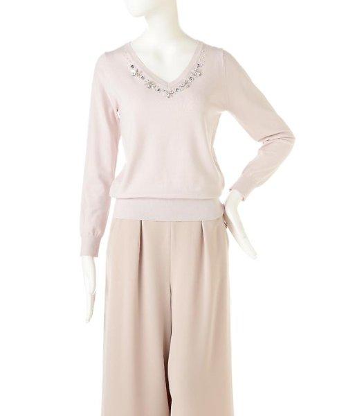 PROPORTION BODY DRESSING(プロポーション ボディドレッシング)/シャイニージュエルVネックニット/1217170101_img05