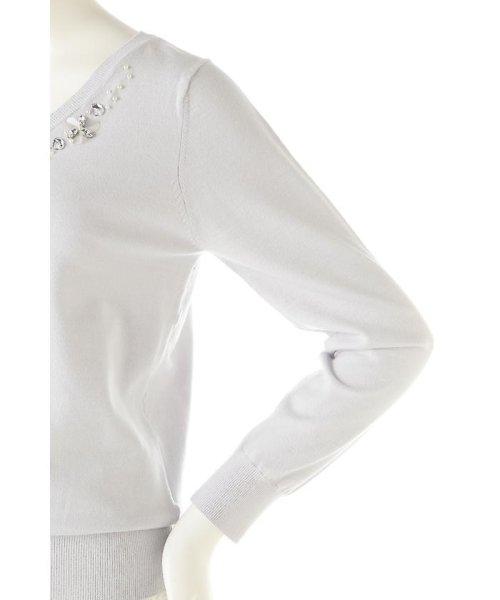 PROPORTION BODY DRESSING(プロポーション ボディドレッシング)/シャイニージュエルVネックニット/1217170101_img11