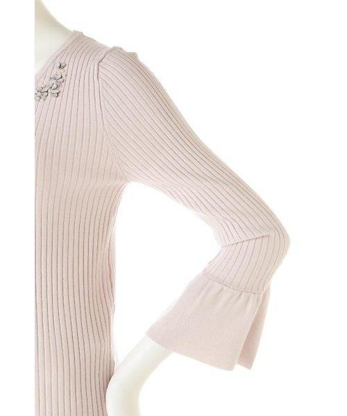 PROPORTION BODY DRESSING(プロポーション ボディドレッシング)/シャイニージュエルベルスリーブニット/1217170102_img11
