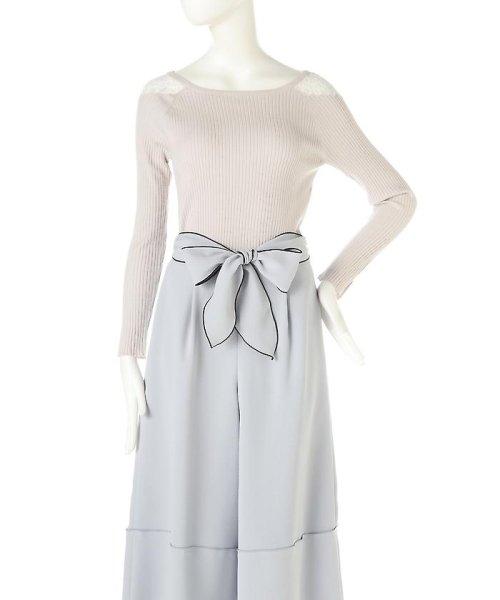 PROPORTION BODY DRESSING(プロポーション ボディドレッシング)/リブストレッチヨークレースニット/1217170107_img08