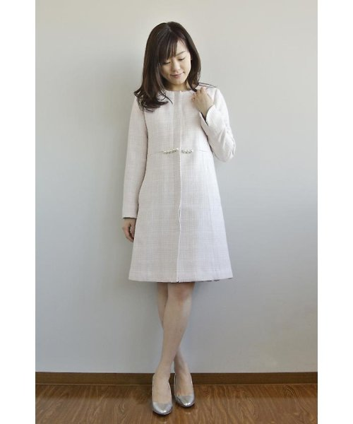 PROPORTION BODY DRESSING(プロポーション ボディドレッシング)/ノーカラーツィードコート/1217152102_img08