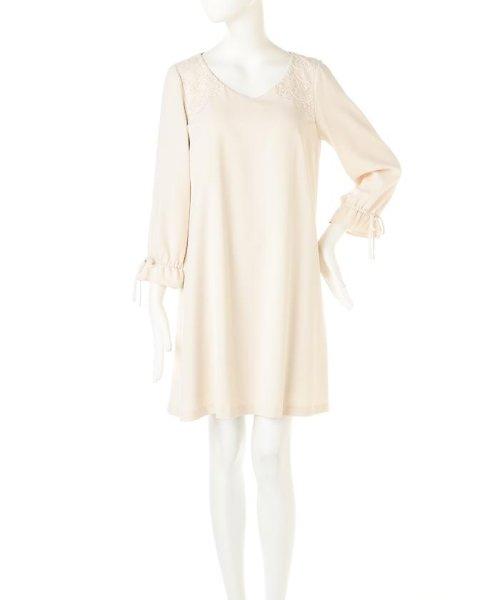 PROPORTION BODY DRESSING(プロポーション ボディドレッシング)/《EDIT COLOGNE》ショルダーエンブロイダリーワンピース/1217147100_img01