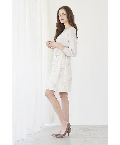 PROPORTION BODY DRESSING(プロポーション ボディドレッシング)/フローリッシュボタニカルプリントスカート/1217120009_img05