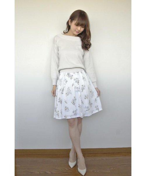 PROPORTION BODY DRESSING(プロポーション ボディドレッシング)/フローリッシュボタニカルプリントスカート/1217120009_img18