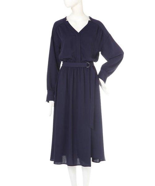 PROPORTION BODY DRESSING(プロポーション ボディドレッシング)/《BLANCHIC》 ノッチネックジョーゼットワンピース/1217149202_img03