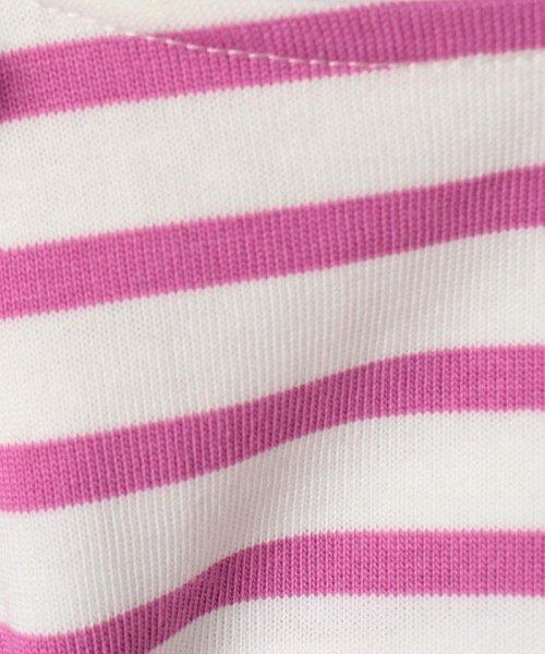 petit main(プティマイン)/肩リボンつき裾スカラップボーダー柄Tシャツ/9671215_img03