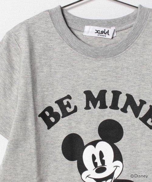 X-girl Stages(エックスガール ステージス)/Disneyコラボミッキーマウス・ミニーマウスプリントTシャツ/9272229_img02