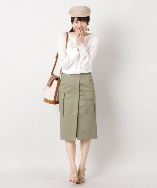 IENA(イエナ)/綿ツイル ミリタリースカート/17060900602010_img03