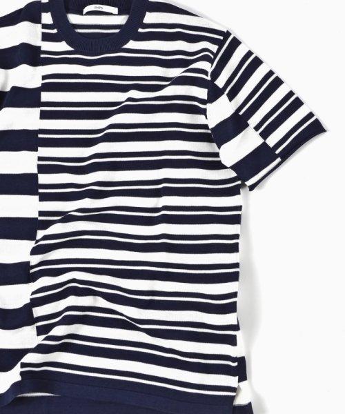 SHIPS MEN(シップス メン)/SC: クレイジー/ボーダー ニット Tシャツ/116010557_img08