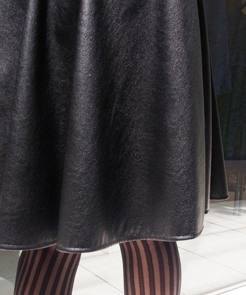 UNIVERVAL MUSE(ユニバーバル ミューズ)/ライトフェイクレザー スカート/7574206_img08