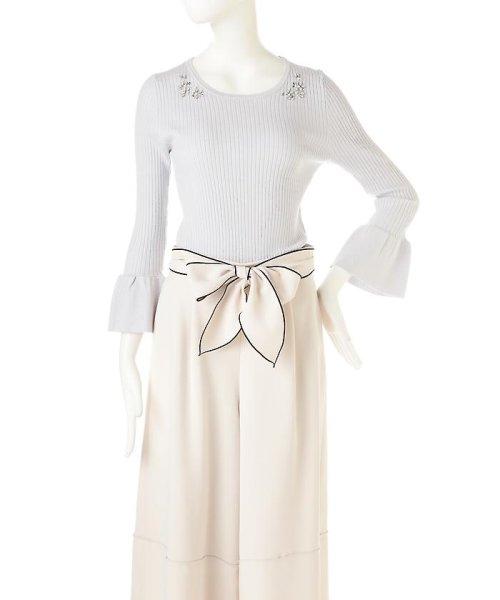 PROPORTION BODY DRESSING(プロポーション ボディドレッシング)/シャイニージュエルベルスリーブニット/1217170102_img14