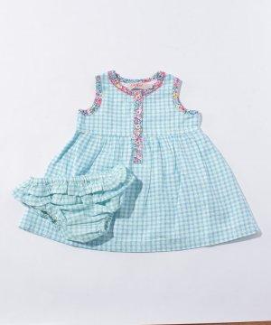 【Outlet】【0-3ヶ月】ドレス & ブリーフ ミニチェック