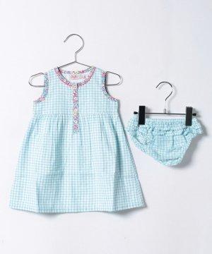 【Outlet】【6-12ヶ月】ドレス & ブリーフ ミニチェック