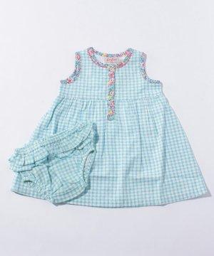 【Outlet】【3-6ヶ月】ドレス & ブリーフ ミニチェック