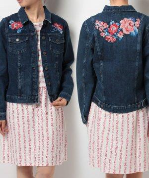 【6】刺繍 デニムジャケット