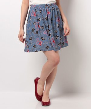 【Outlet】【XS】ビスコース エラスティケーティッド スカート