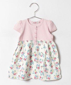 【3-6ヶ月】ベビー ガールズショートスリーブ ジャージドレス ロージーポージー