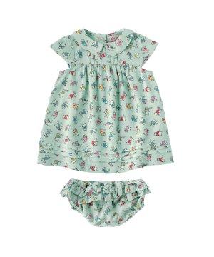 【6-12ヶ月】ベビー カラーピンタックドレス&ブリーフ ダンシングキトン