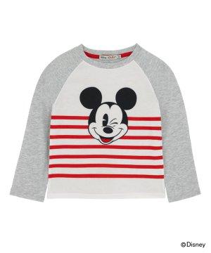 【100-105cm】ディズニー ボーイズ Tシャツ プレーンウィズプレースメントプリント