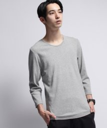 BASECONTROL/baby rib loose neck 3/4 sleeve tee/000983788