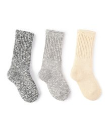 SHIPS KIDS/SHIPS KIDS:3COLOR 3P SOCKS/001158426