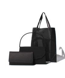 BLACK GALLERY/【SORITEAL BLACK LABEL】フォーマルバッグ・袱紗・サブバッグ3点セット/001314176