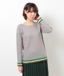 coen/裾ラインモヘヤミックスボートネックニット/001348768