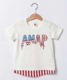 ANAP KIDS/レイヤード風USA  ロゴTシャツ/001383220