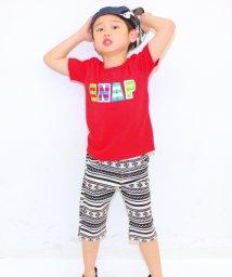 ANAP KIDS/ボーダーロゴ 星プリントTシャツ/001383222