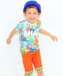ANAP KIDS/ボタニカル柄ロゴTee/001383227