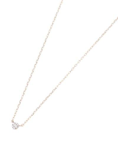ダイヤモンドシークレット留 ネックレス小