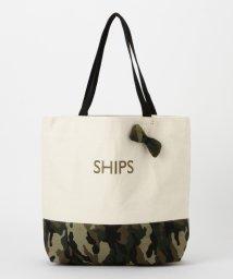 SHIPS WOMEN/バイカラーエコバッグL/001503717