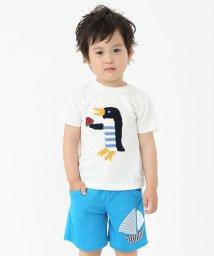kladskap/ペンギン編みモチーフ半袖Tシャツ/001515732