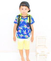 ANAP KIDS/ボタニカル柄デニムポッケ付きTシャツ/001383223