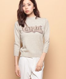 beautiful people/mohair virgin logo intersia pullover/001547491