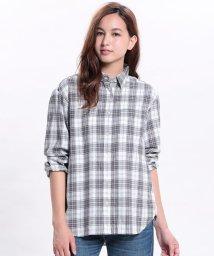 ViS/オーバーサイズチェックシャツ/001621850