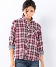 coen/ダブルガーゼチェックレギュラーシャツ/001621960