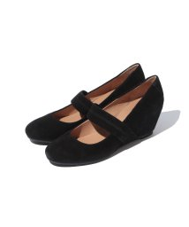 INTER-CHAUSSURES IMPORT/【Pretty NANA】スエードウェッジパンプス/001656948