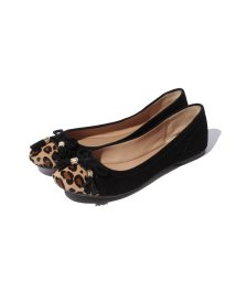 INTER-CHAUSSURES IMPORT/【Pretty NANA】トゥレオパード フラットシューズ/001656954