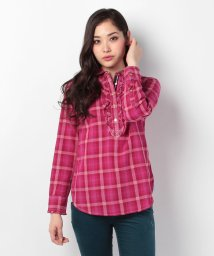 TOMMY HILFIGER WOMEN/シャツ STITCH PLAID RUFFLE POPOVER/001659791