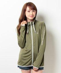 VacaSta Swimwear/【BENETTON】UVスタンドネックラッシュ UPF50+ 秋色カラー 大きいサイズ/001667380