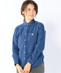 coen/カラーネップネルチェックボタンダウンシャツ/001674351