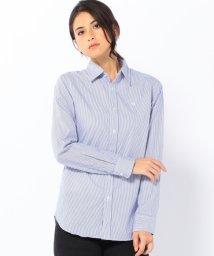 coen/ブロードストライプスリムワイヤーシャツ/001680997