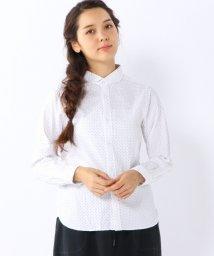 coen/ライトオックスドットラウンドカラーシャツ/001702377